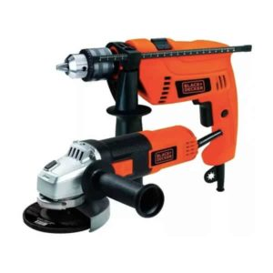 Set Taladro Percutor Y Amoladora HG7255 Black+Decker