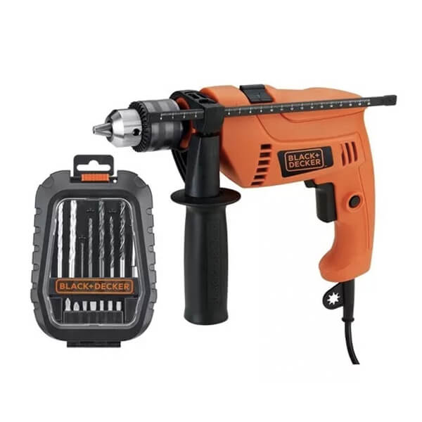Taladro Percutor 550w + Kit de mechas HD555A Black+Decker
