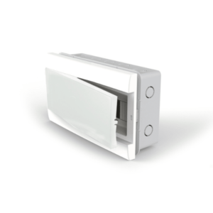Caja De Embutir Para TM (12 Módulos DIN) – Puerta Blanca