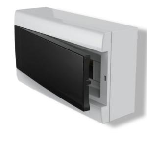 Caja De Sobreponer Para TM Q Energy (12 Módulos DIN) – Puerta Fume
