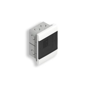 Caja De Embutir Para TM Q Energy (4 Módulos DIN) – Puerta Fume