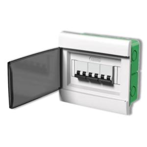 Caja De Embutir Para TM Q Energy (8 Módulos DIN) – Puerta Fume