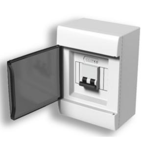 Caja De Sobreponer Para TM Q Energy (4 Módulos DIN) – Puerta Fume