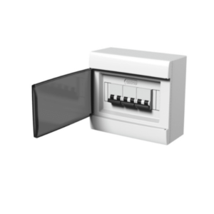 Caja De Sobreponer Para TM Q Energy (8 Módulos DIN) – Puerta Fume